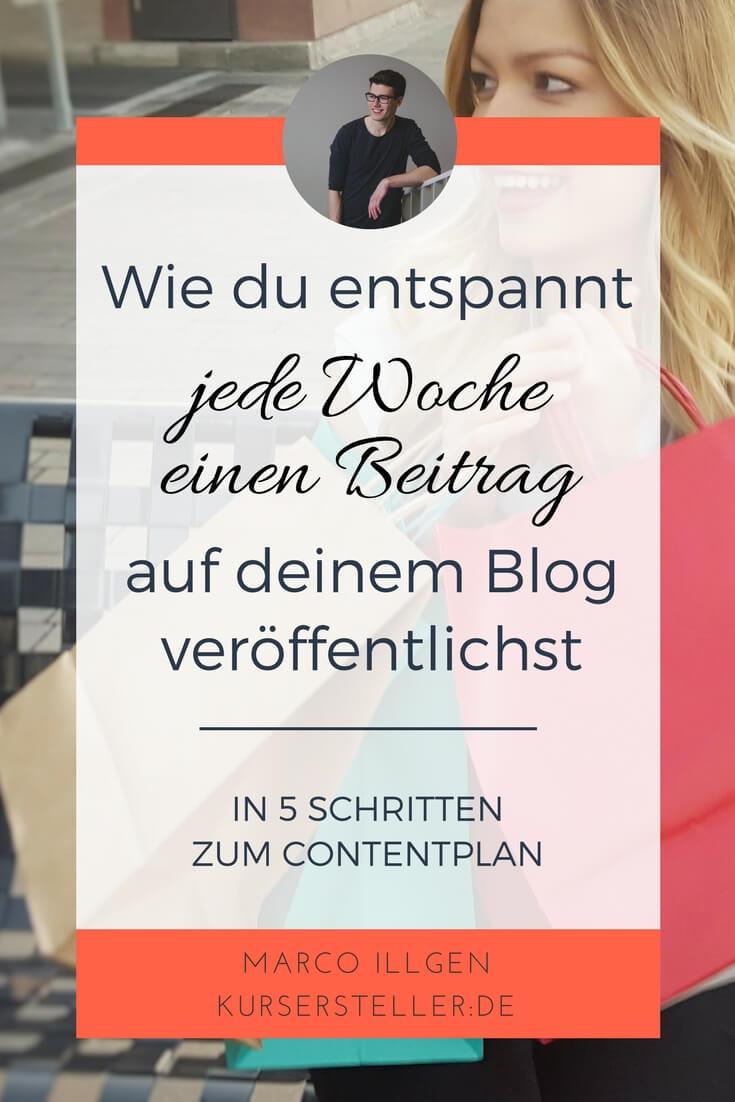 Wie du entspannt jede Woche einen Beitrag auf deinem Blog veröffentlichst