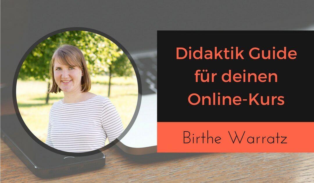 Didaktik Guide für deinen Online-Kurs