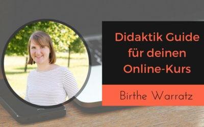 Didaktik Guide für Onlinekurse