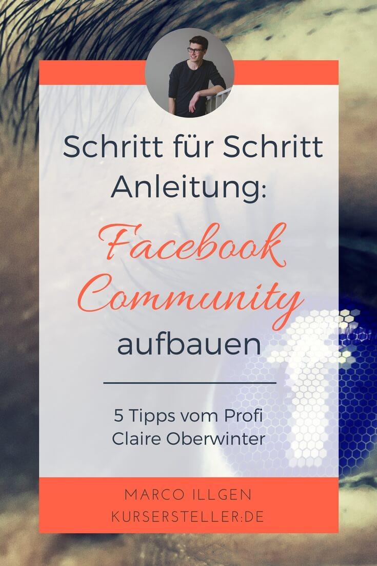 facebook Community aufbauen mit Claire Oberwinter