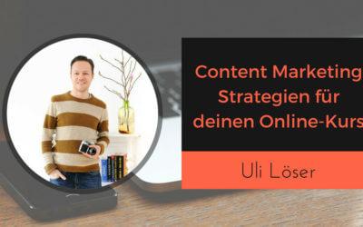 Content Marketing Strategie für deinen Online-Kurs