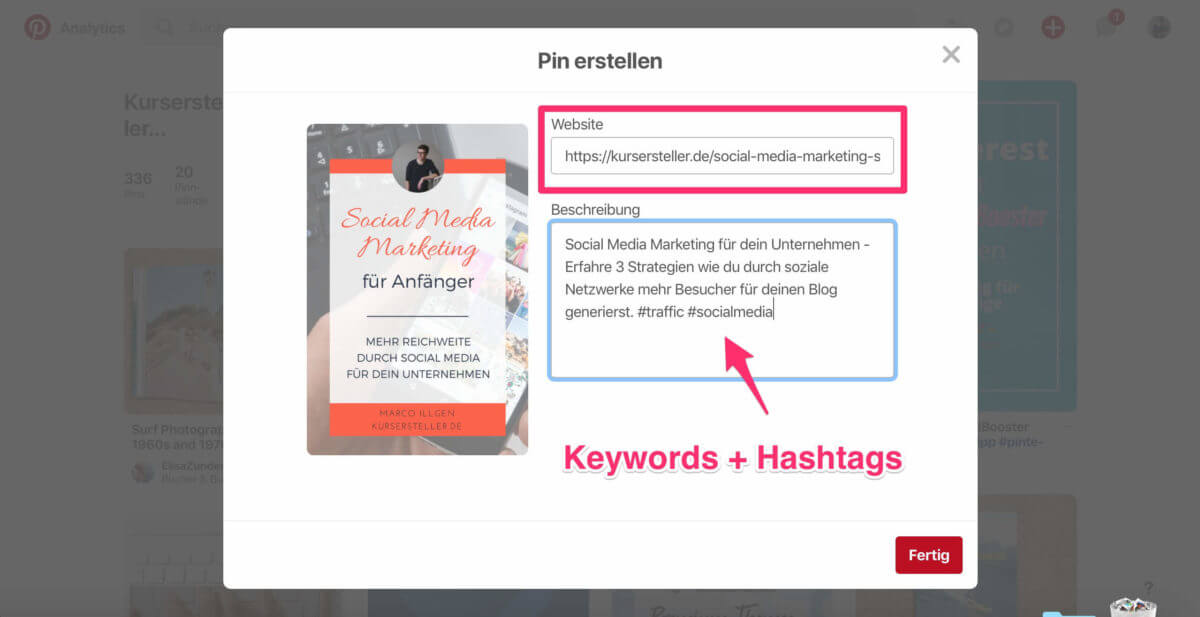 Pinterest Guide - Pinterest Marketing strategie für dein Unternehmen