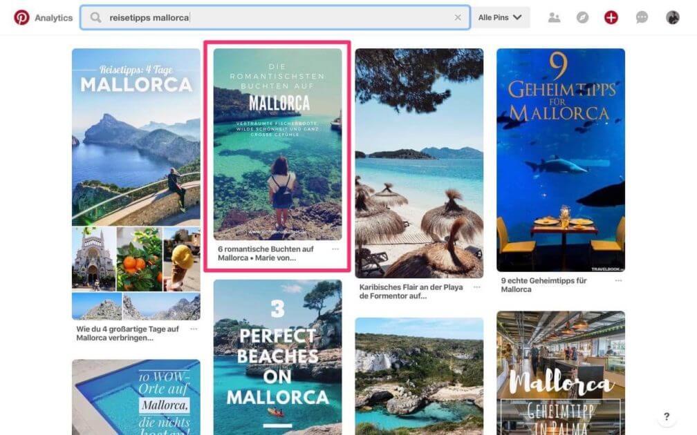 Pinterest Suchergebnisse optimieren - Pinterest SEO Suchmaschine Suchmaschinenoptimierung