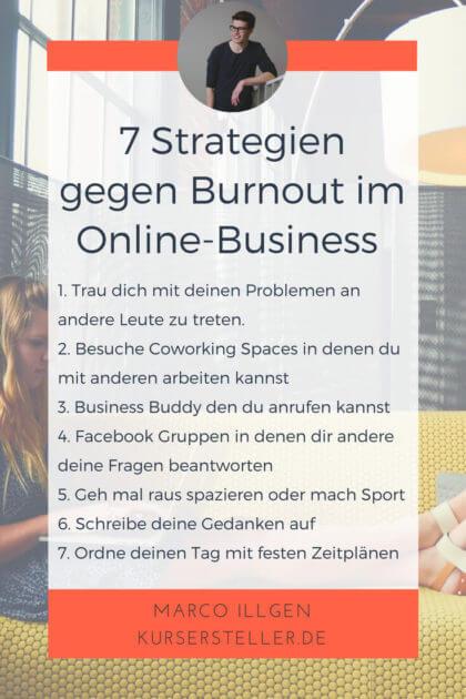 7 Strategien gegen Burnout für Unternehmer im Online-Business
