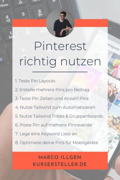 Pinterest richtig nutzen - Pinterest Marketing Strategien für Unternehmer und Männer