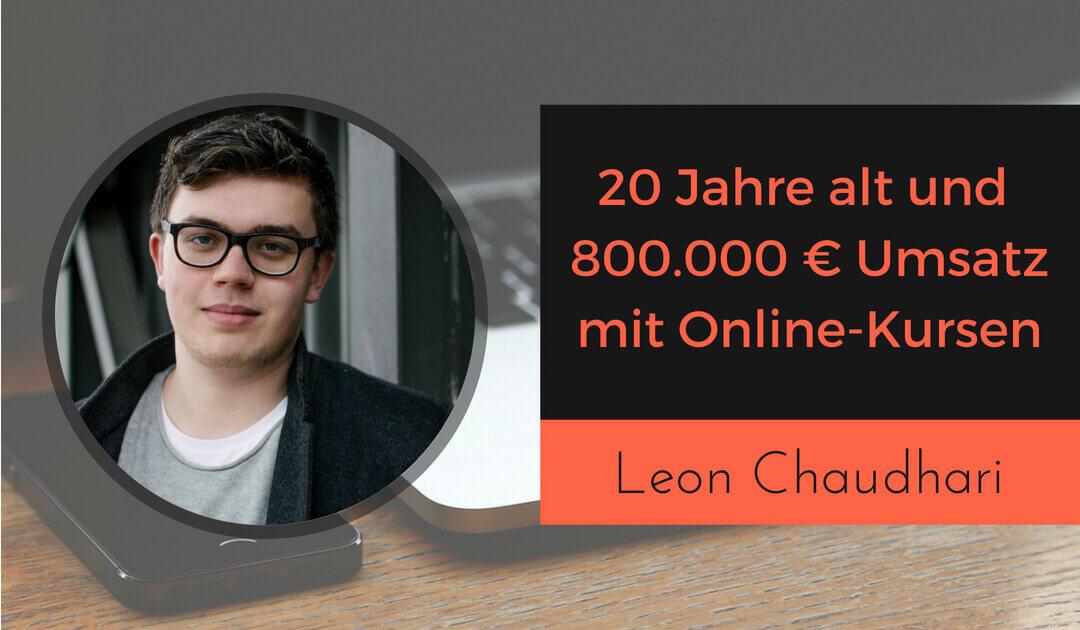 20 Jahre alt und 800.000 € Umsatz mit Online-Kursen - wie du ein Infoprodukt am Tag erstellen kannst