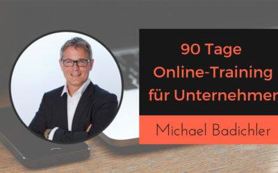 90 Tage Online-Training mit Betreeung erstellen – Michael Badichler
