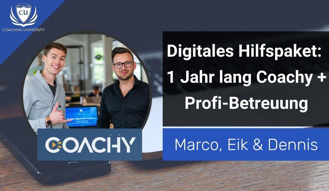 Digitales Hilfspaket_ Coachy Deluxe + Profi Betreuung durch Coaching University
