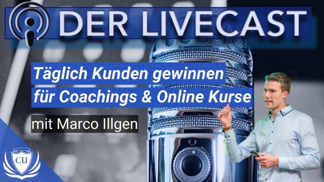 Wie du mind. 1 Verkauf am Tag und täglich Kunden gewinnst für Online Kurse und Coaching mit Marco Illgen Kursersteller