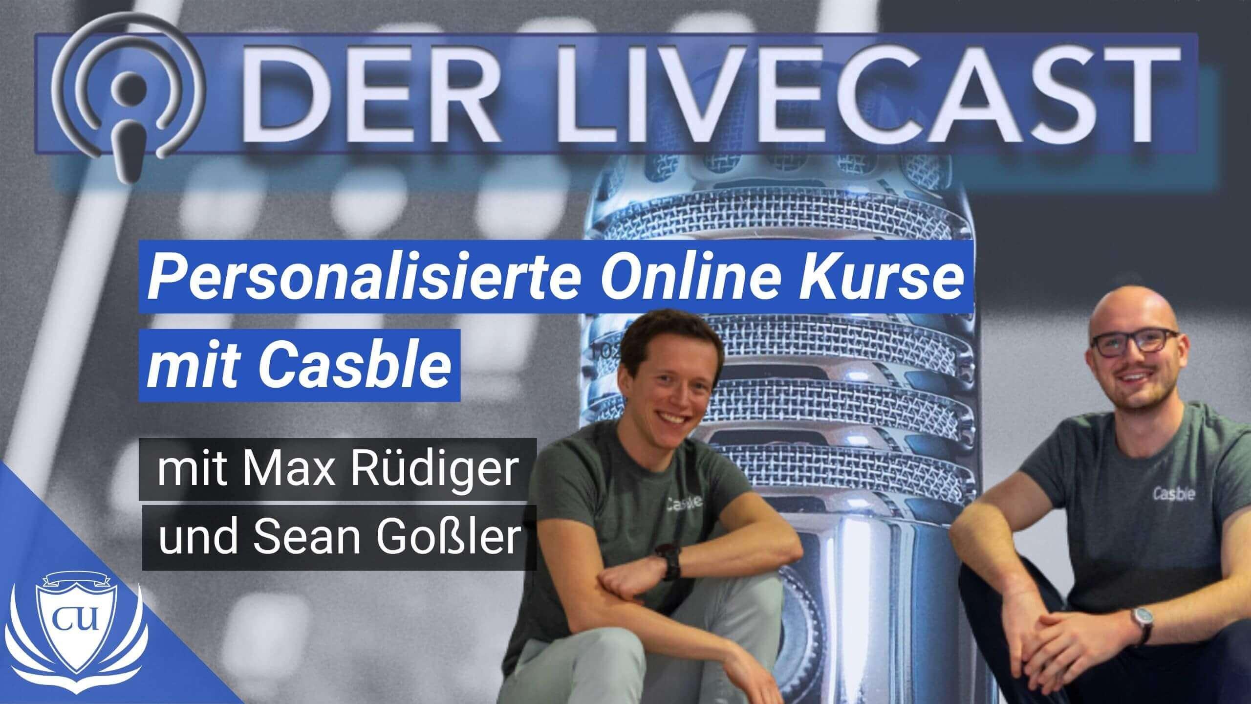 Kursplattform Casble mit personalisierten Online-Kursen von Sean Goßler und Max Rüdiger