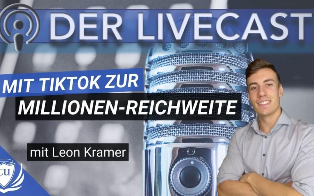 Wie du auf TikTok viral gehst und Millionen Follower erreichst – Podcast mit Leon Kramer