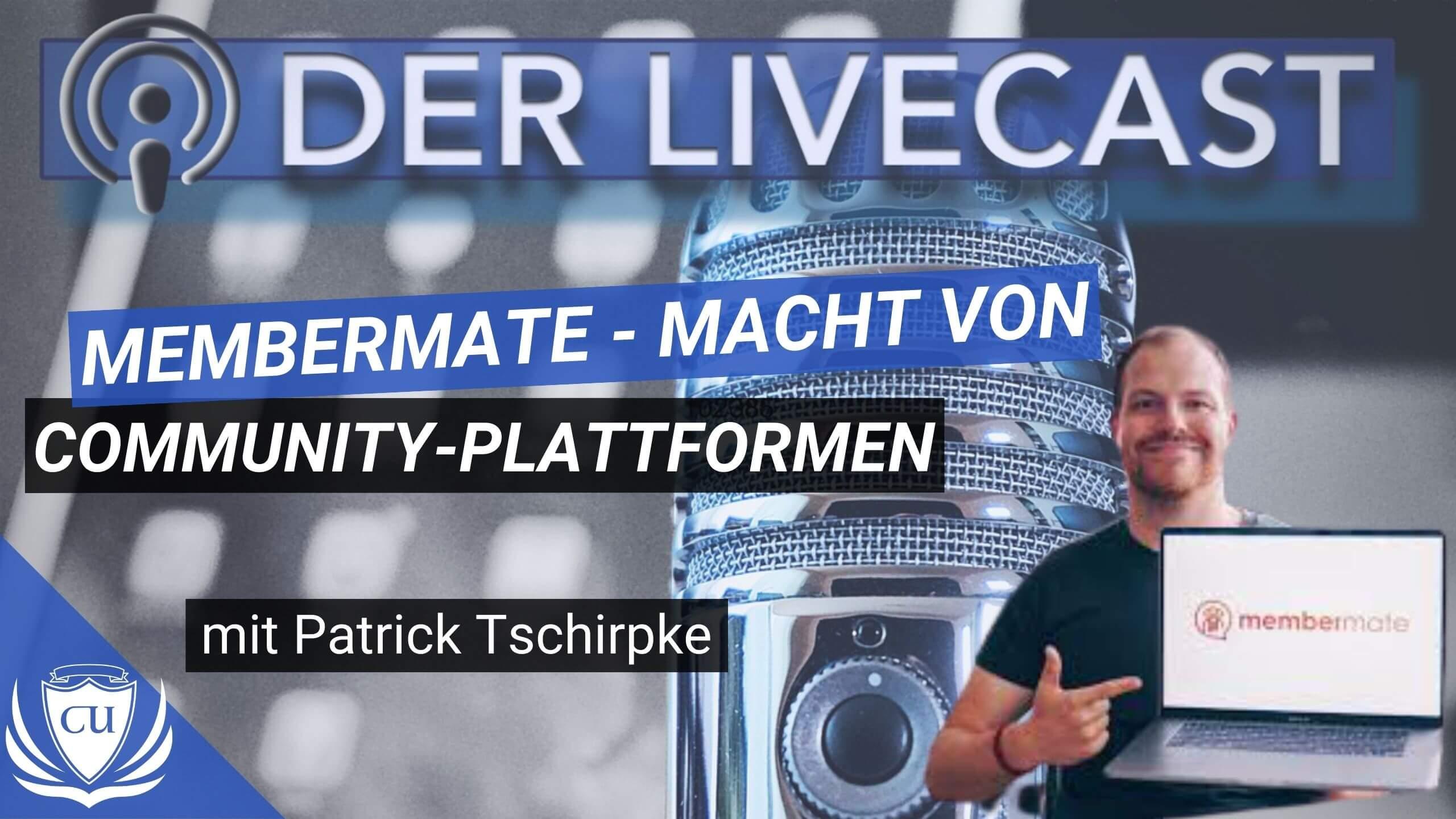 Community-Mitgliederbereiche wie Torben Platzer & Laura Seiler - Mit Membermate von Patrick Tschirpke Gutschein Rabattcode