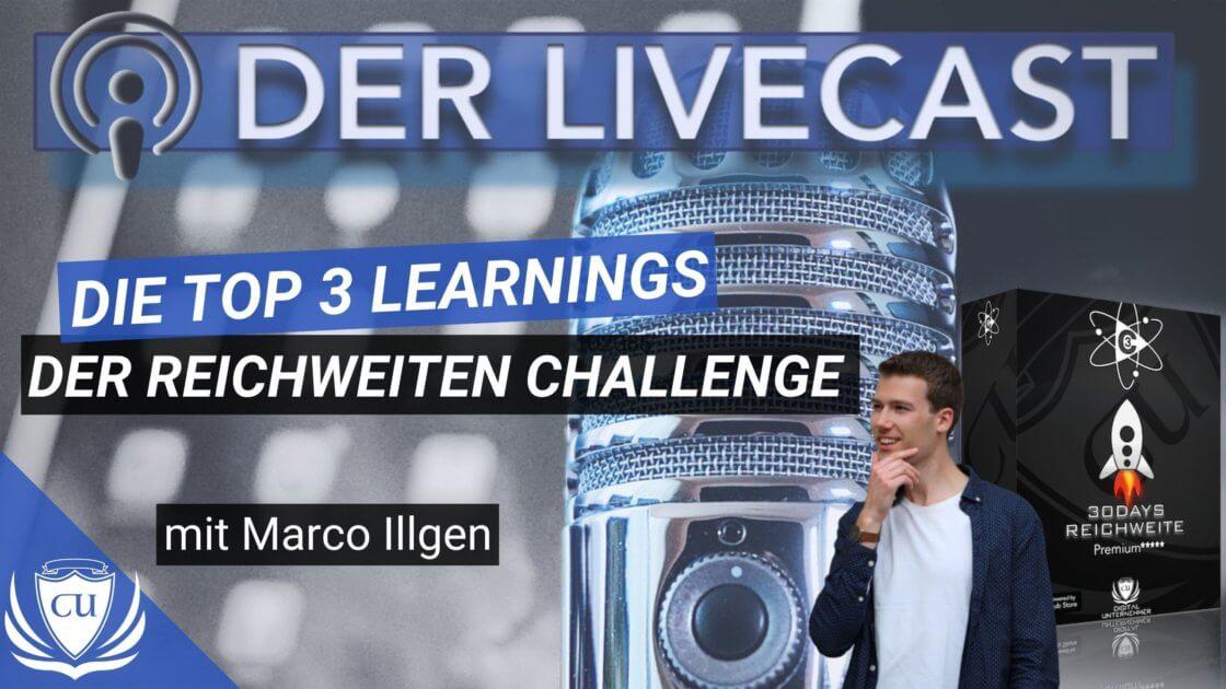 Die Top 3 Learnings der Reichweiten Challenge 2020 Marco Illgen