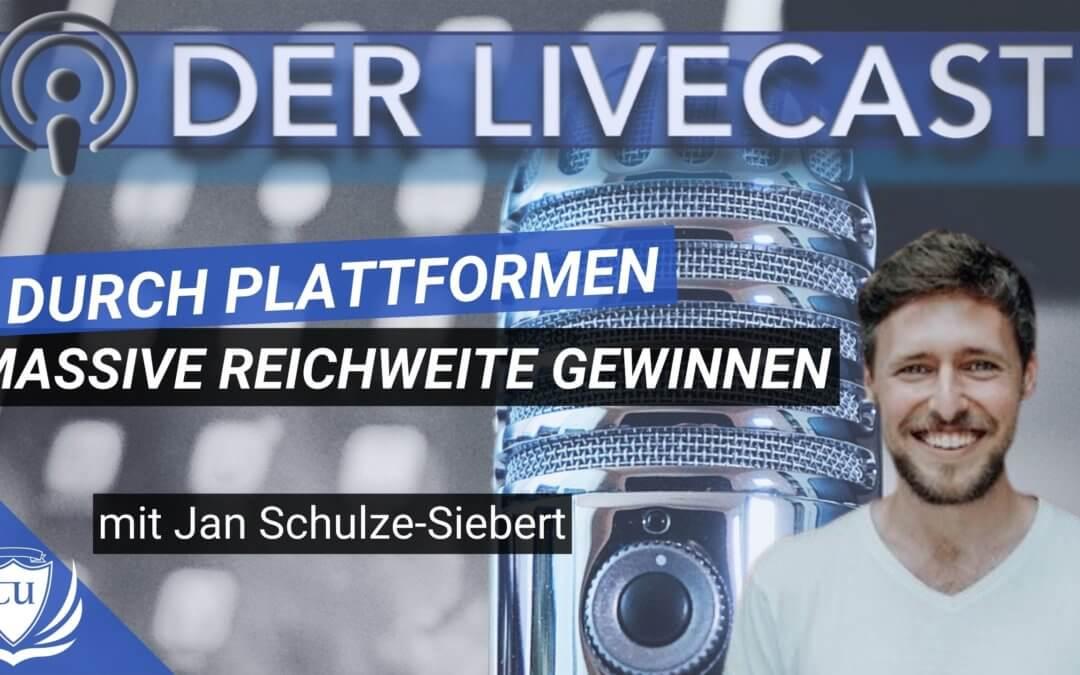 Plattformen als Geschäftsmodell & zur Reichweitengewinnung mit Jan Schulze Siebert