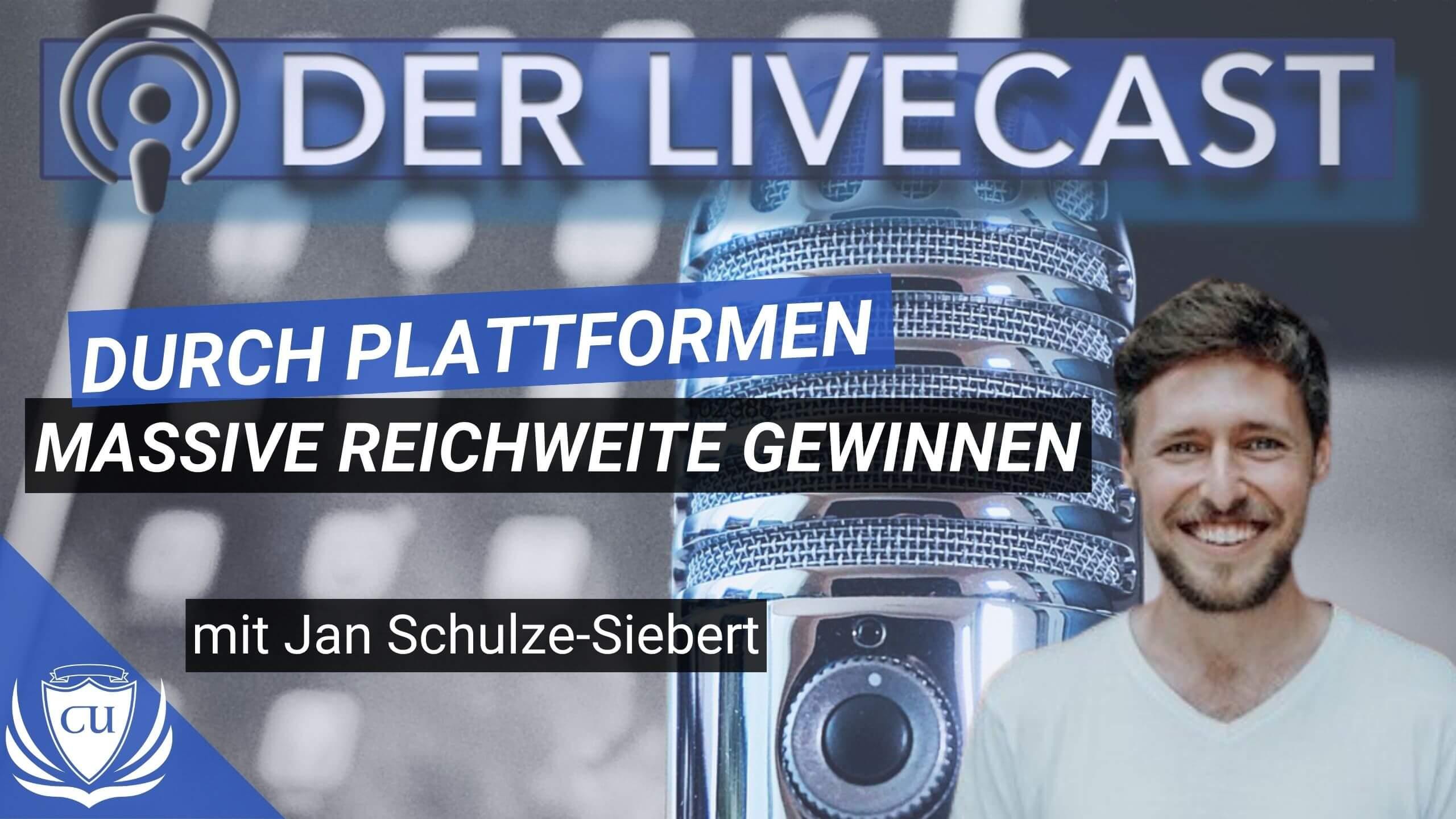 Massiv Reichweite aufbauen mit Plattformen - Jan Schulze Siebert - Hallo Podcaster